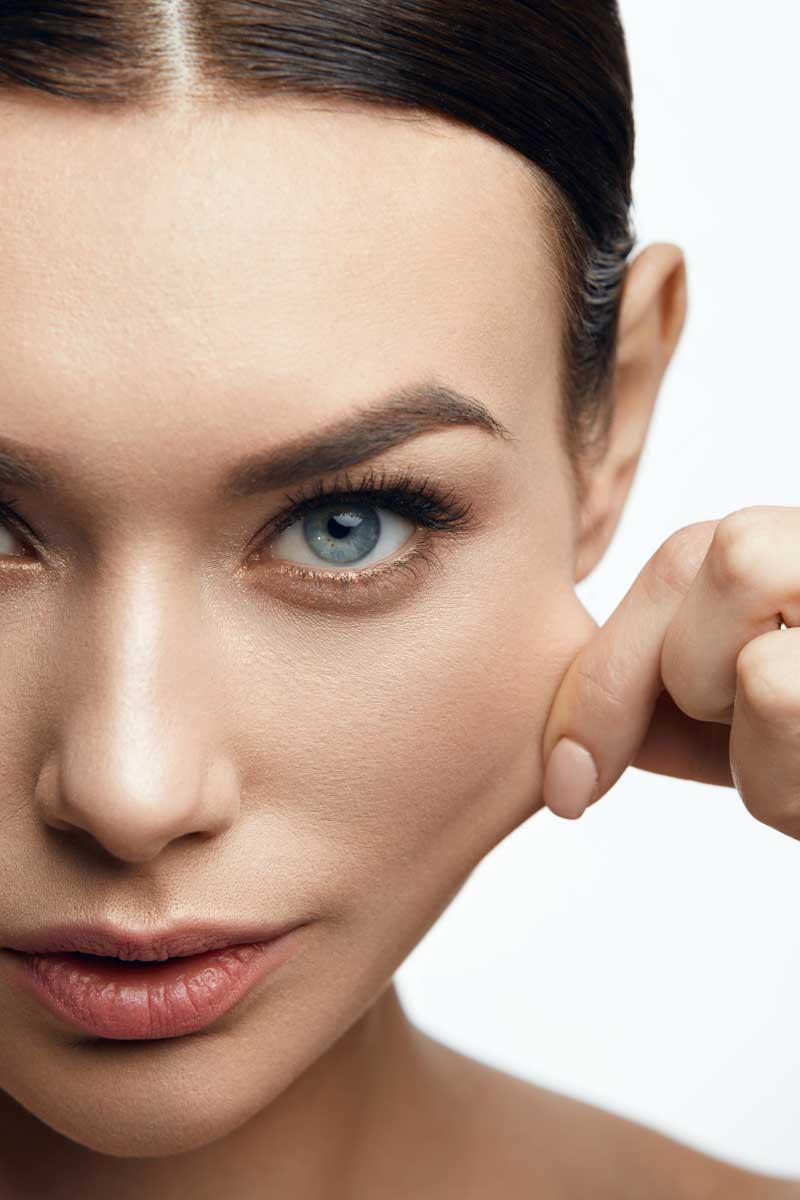elastična koža lica