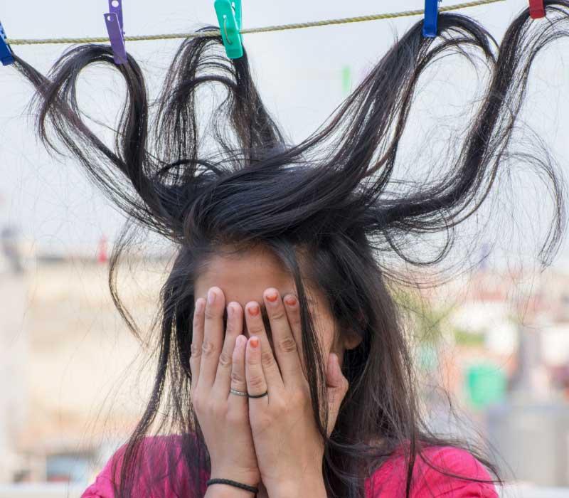 skrivanje prljave kose