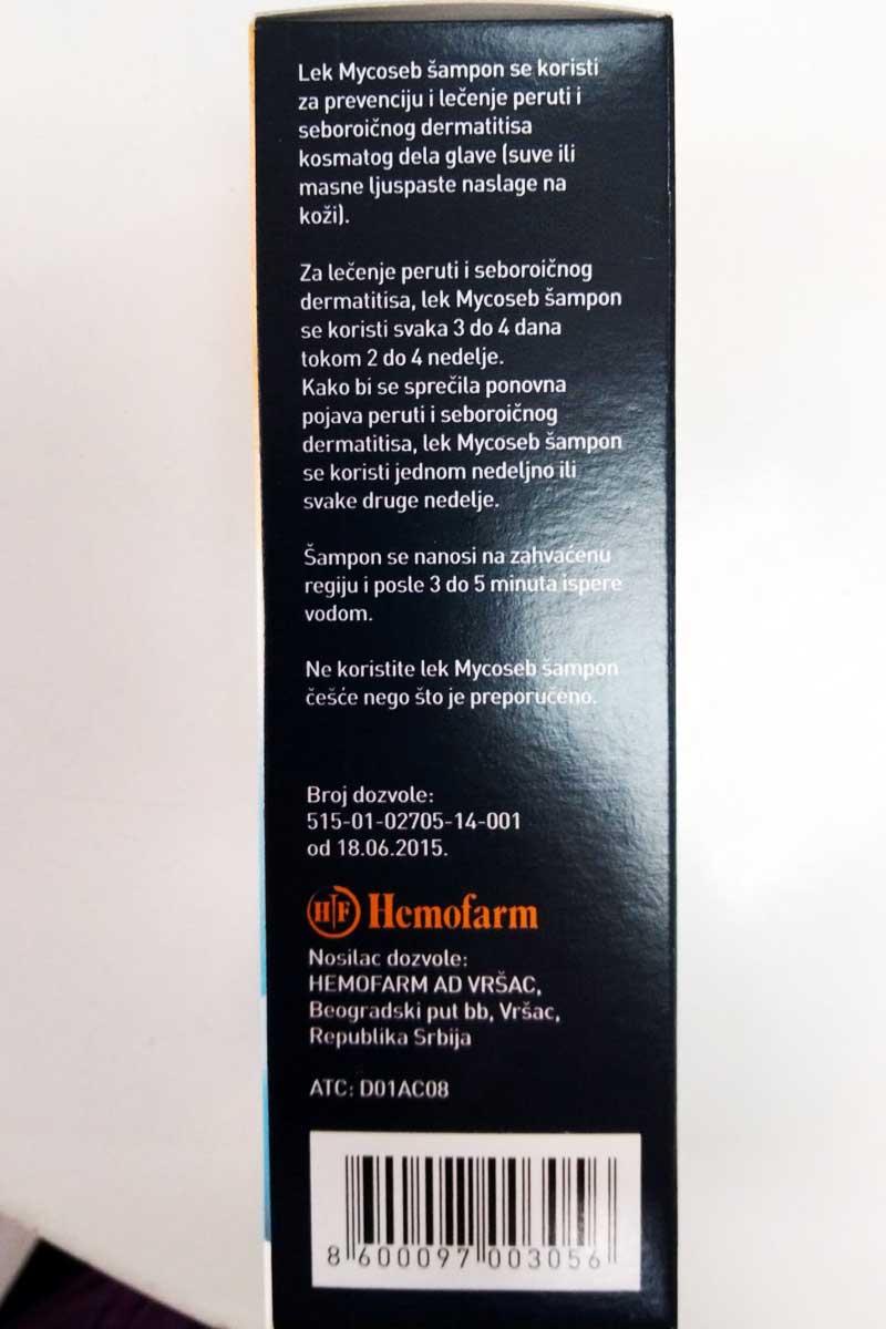 mycoseb šampon uputstvo za upotrebu
