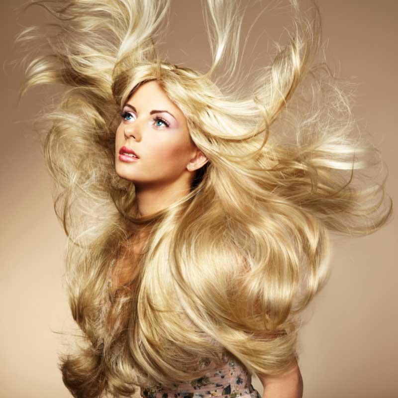 zdrava plava kosa